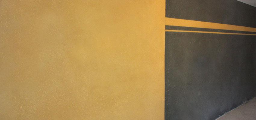 enduit de finition jaune tournesol et gris noir